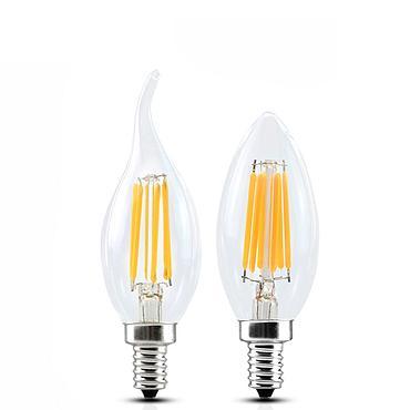 Dimmable LED Candle Bulb E14 E27 2W 4W 6W Edison Lamp C35 Filament Light 220V ST