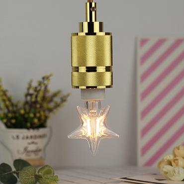 2W E14 Small Five-pointed Star LED Edison Bulb 220-240V Home Light LED Filament Light Bulb