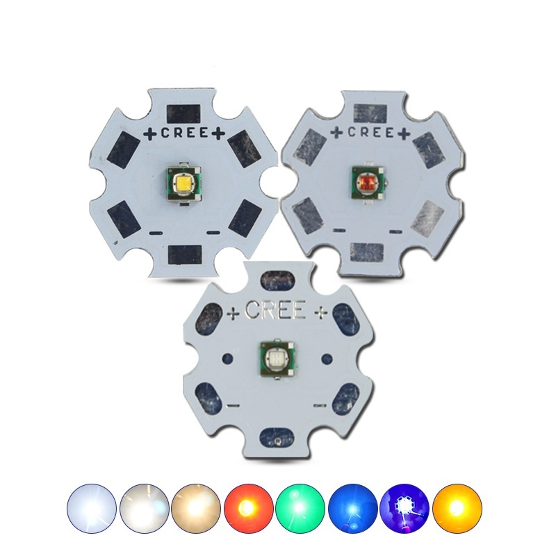 3W CREE XPE 2 Generation High Power LED 8-20mm Aluminum PCB Emitter Warm White Red/Blue/Green/Yellow