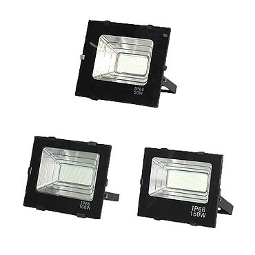 Black Treasure Bowl LED Floodlight 20W 30W 50W 100W 150W Outdoor Lighting Garden Lamp AC 220V-240V