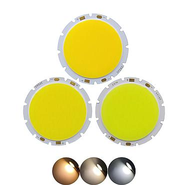 10W/12W/15W/18W/20W/30W LED COB Module LED COB Round Panel 49mm PCB 42mm Emitting Area Warm/Natural White