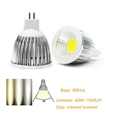 3W 5W 7W 9W MR16 COB LED Bulb Lamp DC12V LED No Dimmable Spotlight