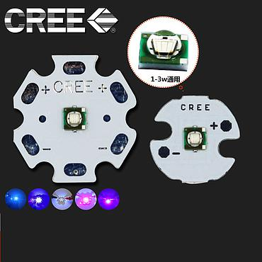 3W CREE XPE 3535 High Power LED Emitter UV 365/395/400/420nm With 16-20mm Aluminum PCB