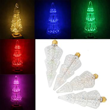 3W E27 Christmas Tree LED Edison Bulb AC85-265V Home Light LED Filament Light Bulb
