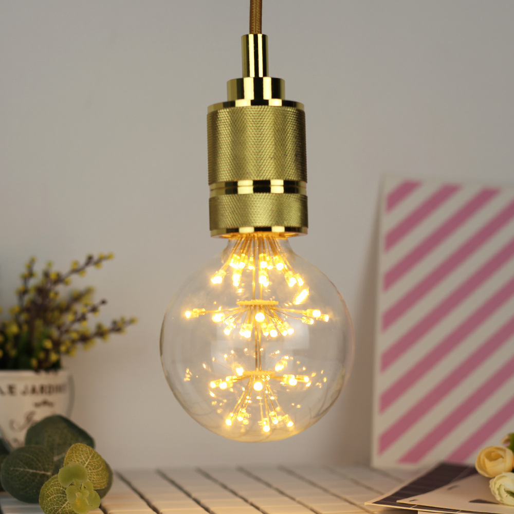 3W E27 G95 Fireworks Light LED Edison Bulb AC85-265V Home Light LED Filament Light Bulb