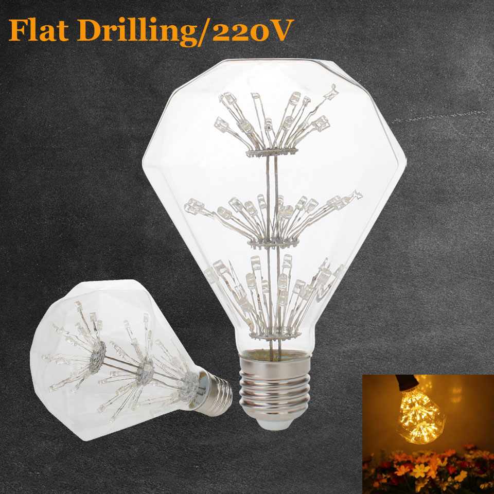 3W E27 LED Flat Drilling Edison Bulb AC220V-240V Home Light LED Filament Light Bulb