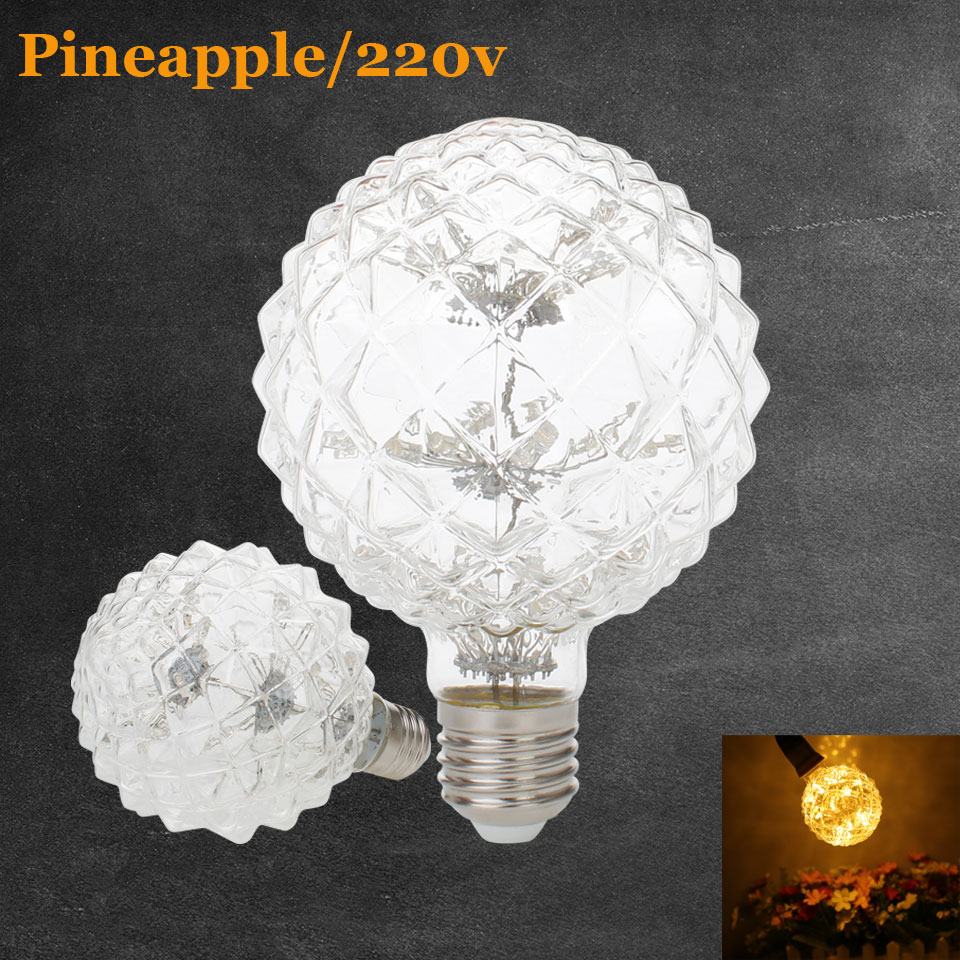 3W E27 LED Pineapple Edison Bulb AC220V Home Light LED Filament Light Bulb