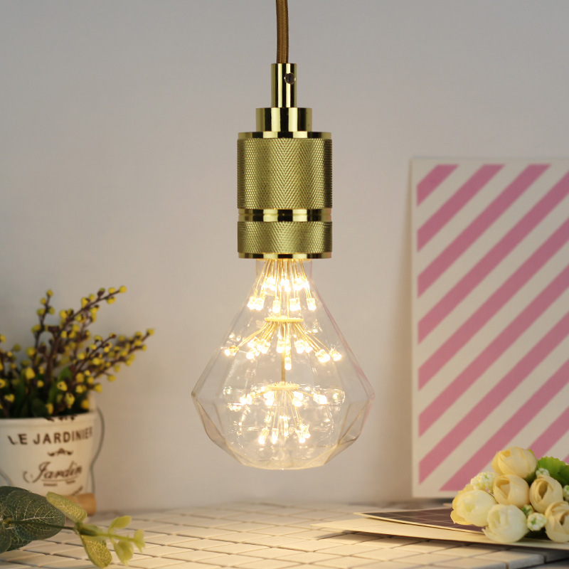 3W E27 ST64 Flat Top Diamond LED Edison Bulb AC85-265V Home Light LED Filament Light Bulb