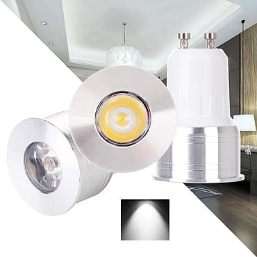 3W GU10 GU5.3 MR16 COB LED Bulb Lamp AC85-265V/DC12V LED No Dimmable Spotlight
