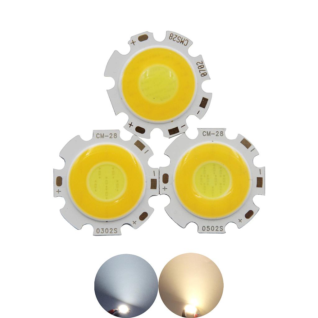 3W 5W 7W 10W LED COB Module LED COB Round Panel 300mA 28mm PCB 20mm Emitting Area Warm White + White