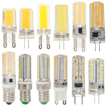 4W 5W 7W G4 G9 E14 COB LED Halogen Bulb AC220V/DC12V Home Light LED Silica Gel Lamp