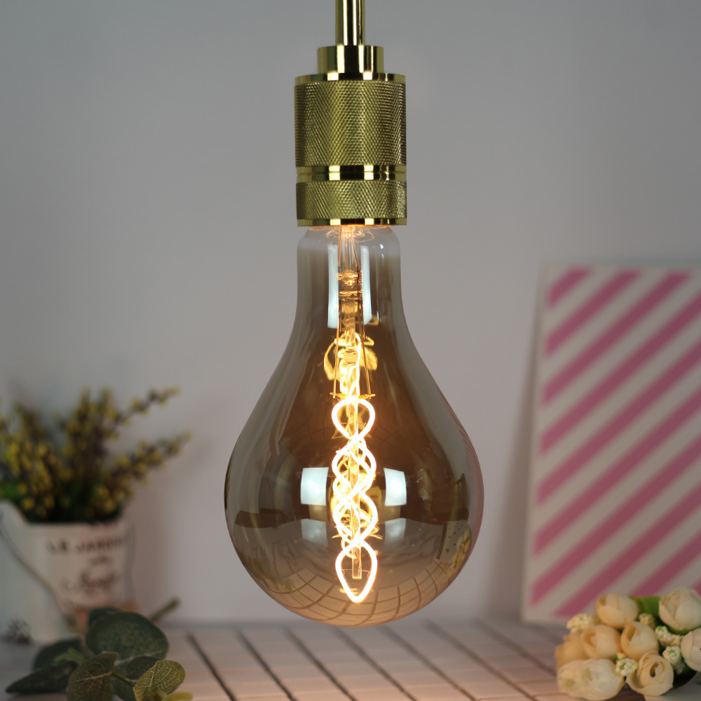 4W E27 A110 Double Spiral LED Edison Bulb 220-240V Home Light LED Filament Light Bulb
