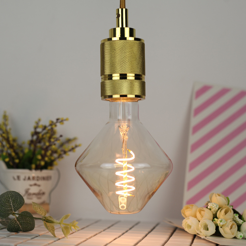 4W E27 Gyroscope shaped LED Edison Bulb AC220-240V Home Light LED Filament Light Bulb
