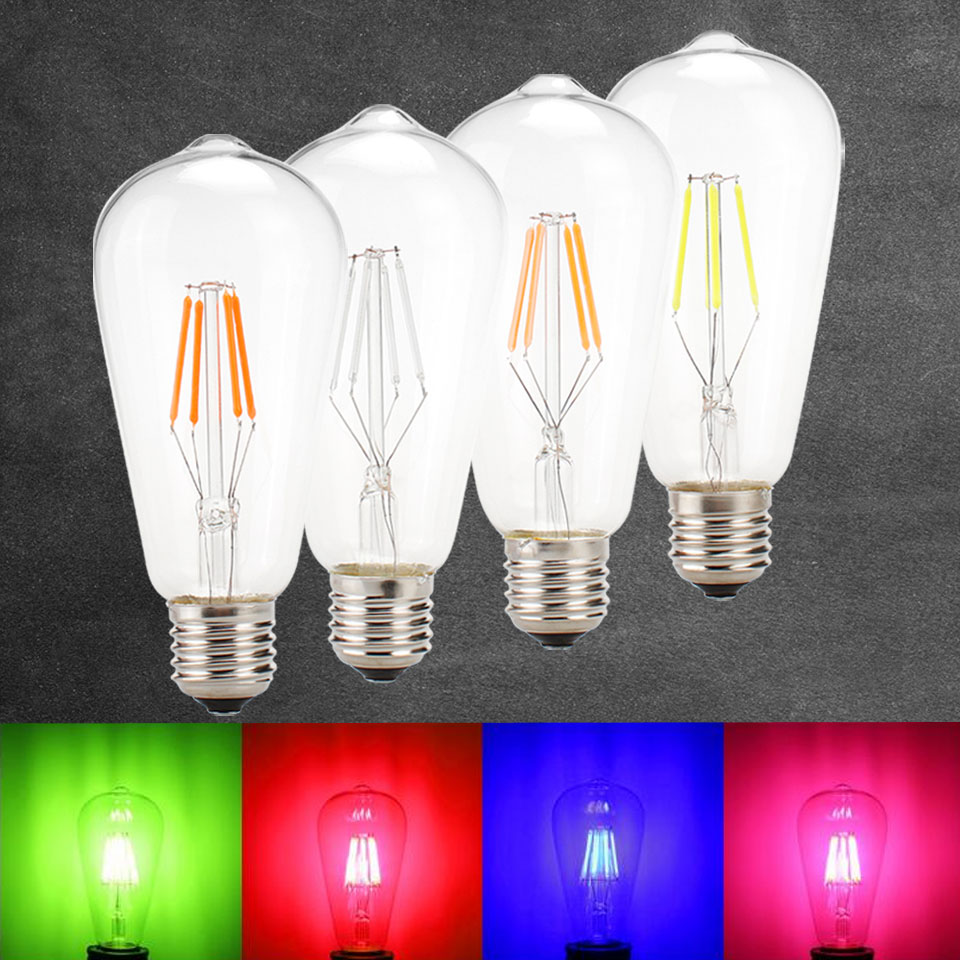 4W E27 ST64 LED Edison Bulb AC220V Home Light LED Filament Candle Bulb