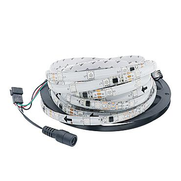 DC 12V Dream Color 5050 RGB LED Strip Light 16.4FT 1903 Smart IC Waterproof 30 Leds/m