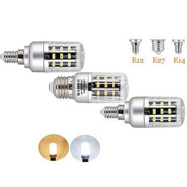 5W 10W 15W 20W 25W E12 E14 E27 5736 SMD LED Corn Bulb Lamp 110V/220V Chandelier LEDs Candle Light