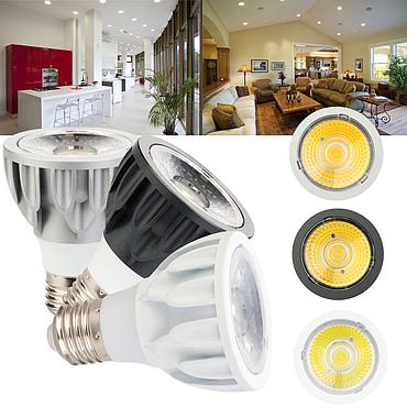 5W E27 COB LED Bulb Lamp AC110V/220V/85-265V Home Light Aluminum Spotlight