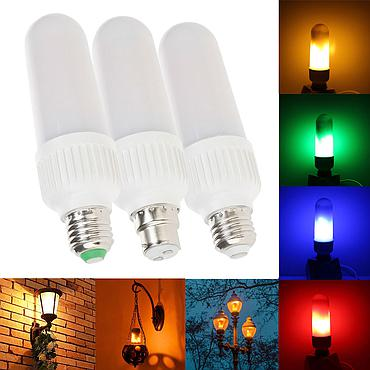 5W E27 E26 B22 2835 SMD LED Corn Bulb Lamp AC85V-265V Flicker Decorative Light