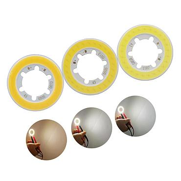 5W LED COB Module LED COB Round Panel DC 15V 43mm PCB 42mm Emitting Area Warm Natural White