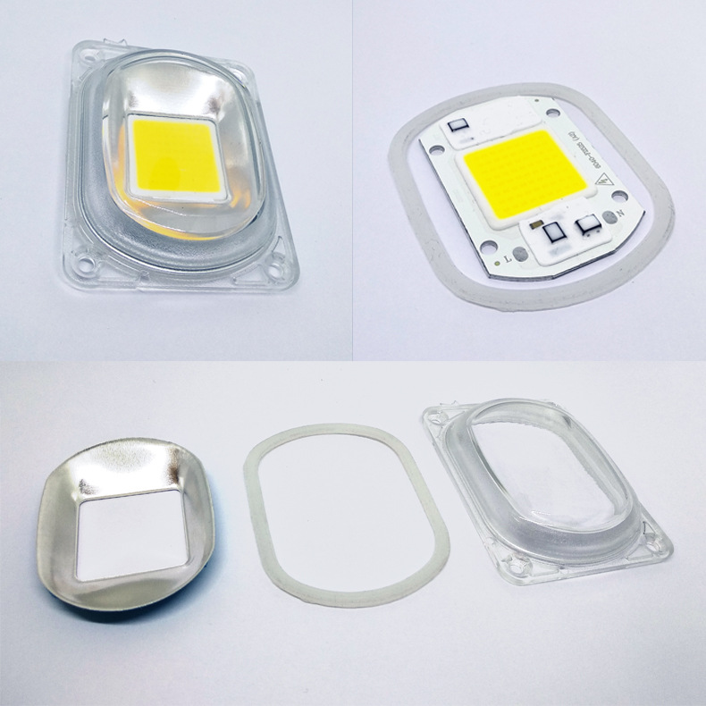 10W 20W 30W Driverless LED Light COB Chip Size 50x40mm Emitting White/Warm White/Full Spectrum