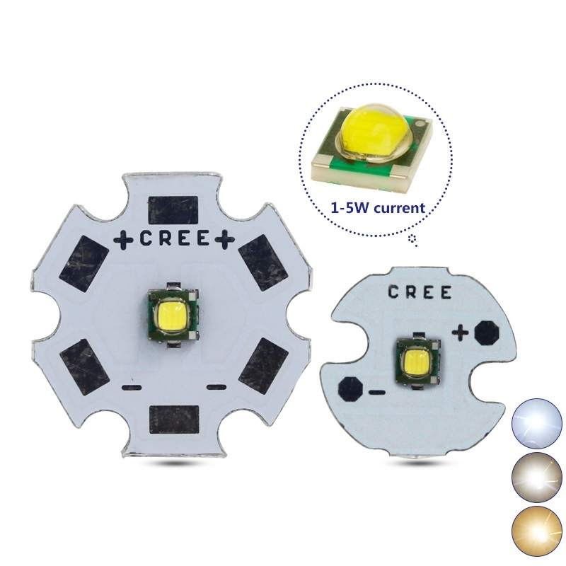 3W 5W CREE XPG 2 Generation S3 High Power LED 8-20mm Aluminum PCB Emitter Warm Neutral White