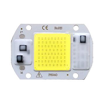20W 30W 50W Driverless LED Light COB Chip Size 60x40mm Emitting White/Warm White/Full Spectrum