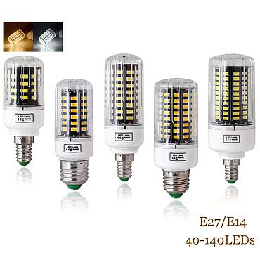7W 12W 20W 25W 30W 35W E14 E27 5736 SMD LED Corn Bulb Lamp AC85-265V Chandelier LEDs Candle Light