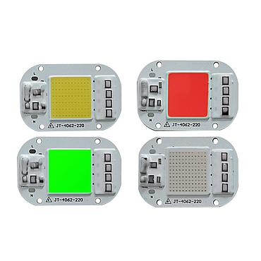 20W 30W 50W Anti-surge Driverless LED Light COB Chip Size 62x40mm Emitting 25x25mm
