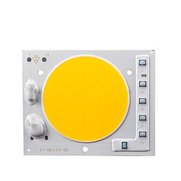 24W 35W 50W Driverless LED Light COB Chip Size 90x72mm Emitting Area 60mm