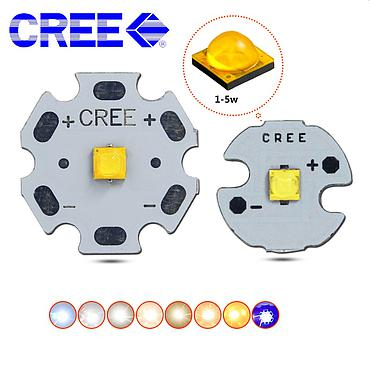 5W CREE XTE S3 High Power LED 8-20mm PCB Emitter Warm Neutral White Blue
