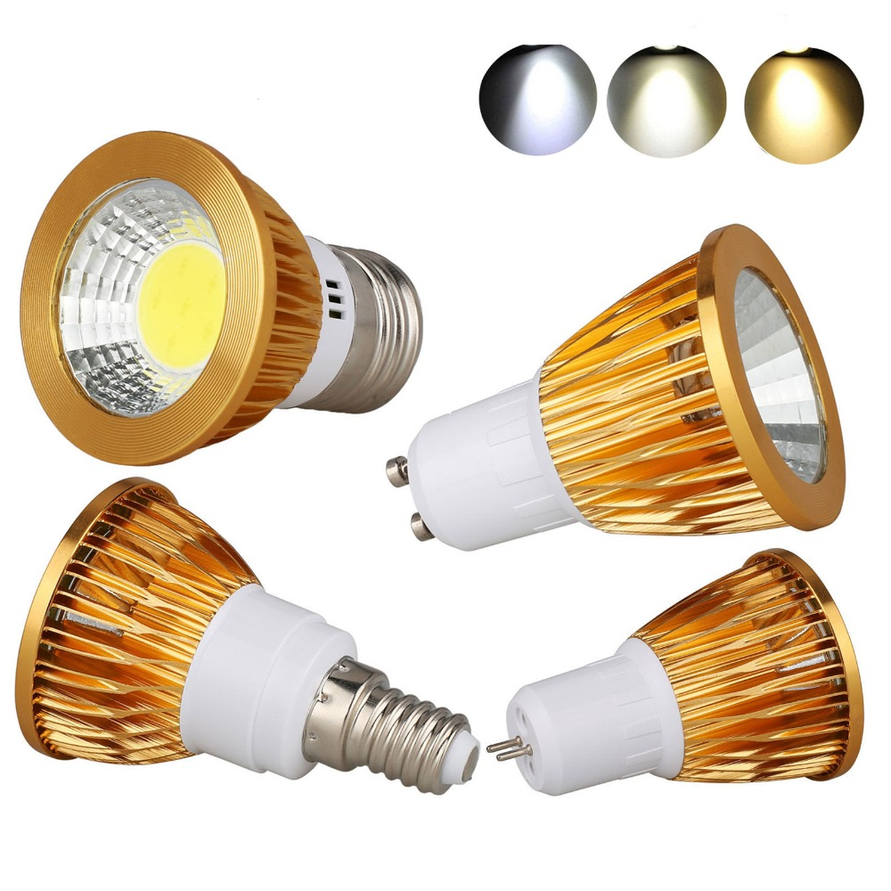 9W 12W 15W E27 E14 GU10 MR16 E12 COB LED Bulb Lamp AC85-265V/DC12V LED No Dimmable Spotlight