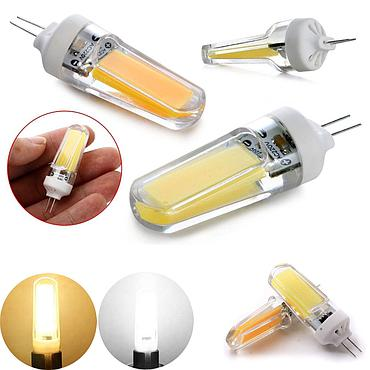 9W G4 G9 COB LED Halogen Bulb AC110V/220V Home Light LED Dimmable Silica Gel Lamp