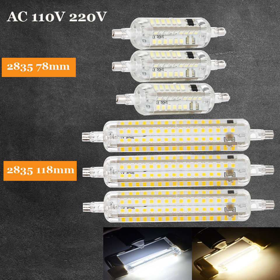 10W 15W R7S 2835 SMD LED Corn Bulb Lamp AC110V/220V LED Floodlight