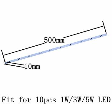 10W 30W 36W 500mm*10mm  Aluminum Base Plate Rectangle for High Power LED Lights