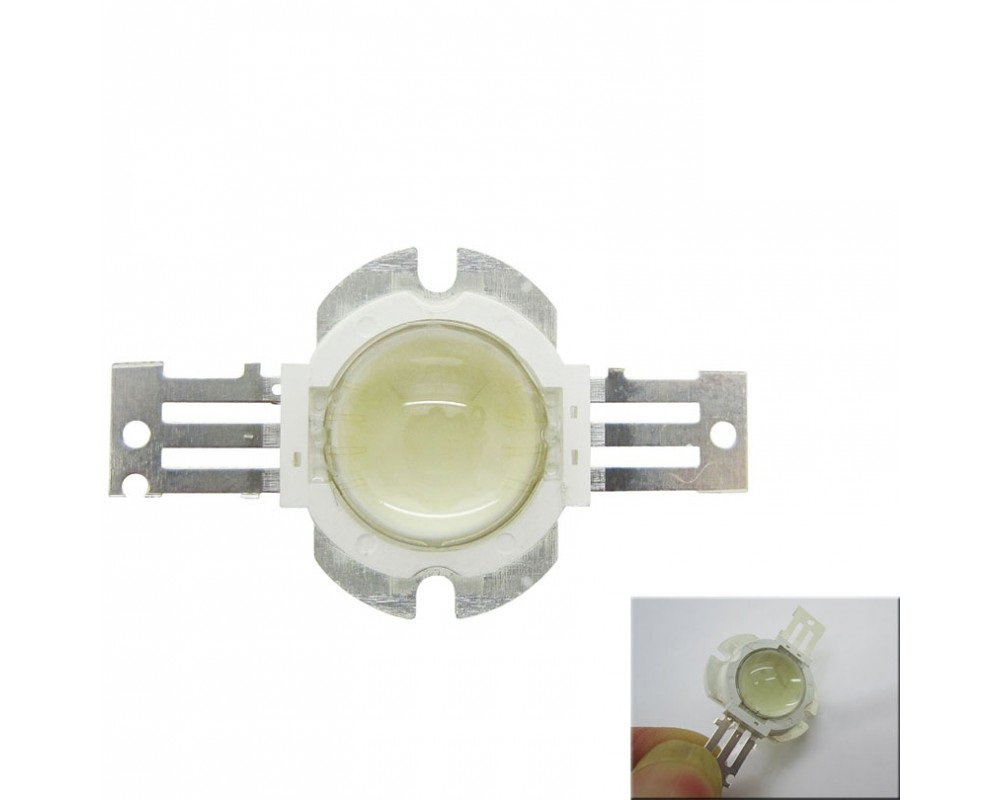 10W High Power LED Emitter White 2700-35000K Round Shape With focus Lens