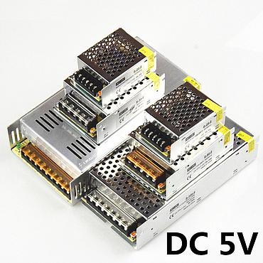 110V-240V to DC5V 5A 10A 15A 20A 30A 40A 60A Switch Driver Power Supply Adapter Transformer for LED Strip Lights