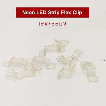 12V/220V Clips for Round Shape Flexible Neon LED Strip