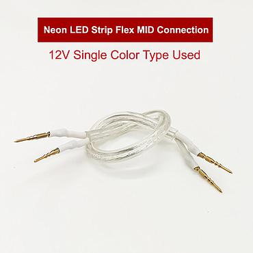 12V Single Color Neon LED Strip Flex MID Connection