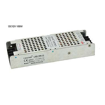 190V-220V to DC12V 150W Ultra-thin Driver Power Supply Adapter Transformer for LED Strip Lights