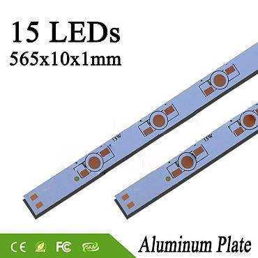 1W 3W 5W  565*10mm 15LEDs Aluminum Base Plate PCB Board Heat Sink