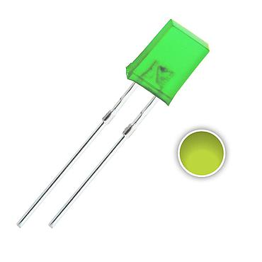 2x5x7 mm LED Diode Lights Square Rectangle Colored Lens Diffused DC 2V 20mA