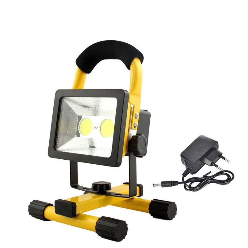 30W Recharge Portable COB LED Floodlight Lithium 18650 Battery Outdoor Working Light