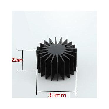 33mm*22mm High Power LED Oxide Alluminum Heatsink Suitable for 3W LED
