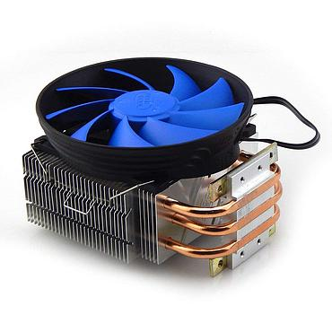 3 Copper Pipe Heatsink with Fan for 20-80W LED
