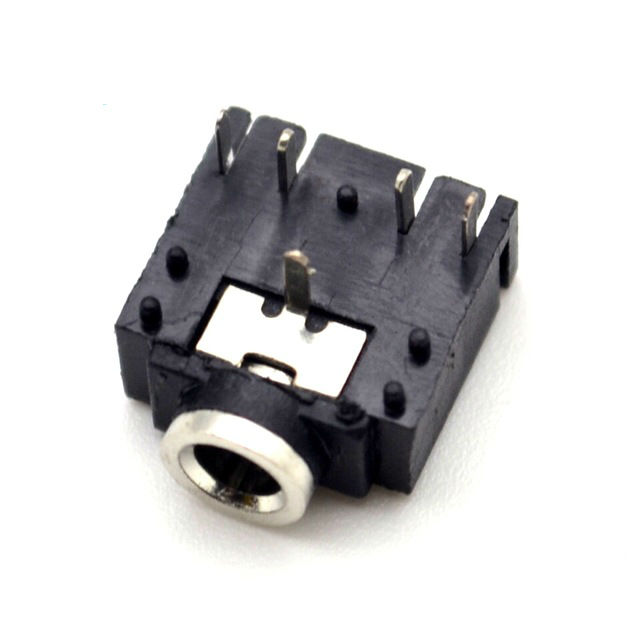 3F07 Socket 5P 3.5 Frequency Audio Jack Connector Dual Track