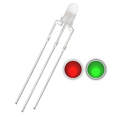 3mm Red & Blue/Green LED Diode Lights Bicolor Common Cathode Diffused Round