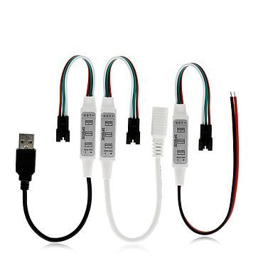 3 Types SP002E 3 Key Mini RGB Controller Micro-Controller for DC5-24V Pixels Dream Color WS2811 WS2812B LED Strip
