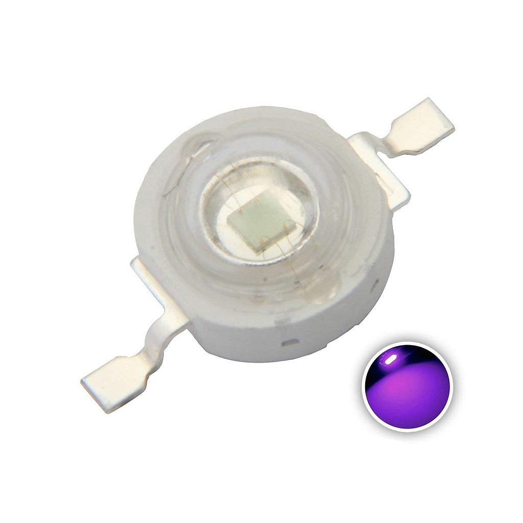 3W High Power LED Emitter UV 365-368nm/ 370nm / 380nm / 390nm /395nm /400nm / 410nm /420nm