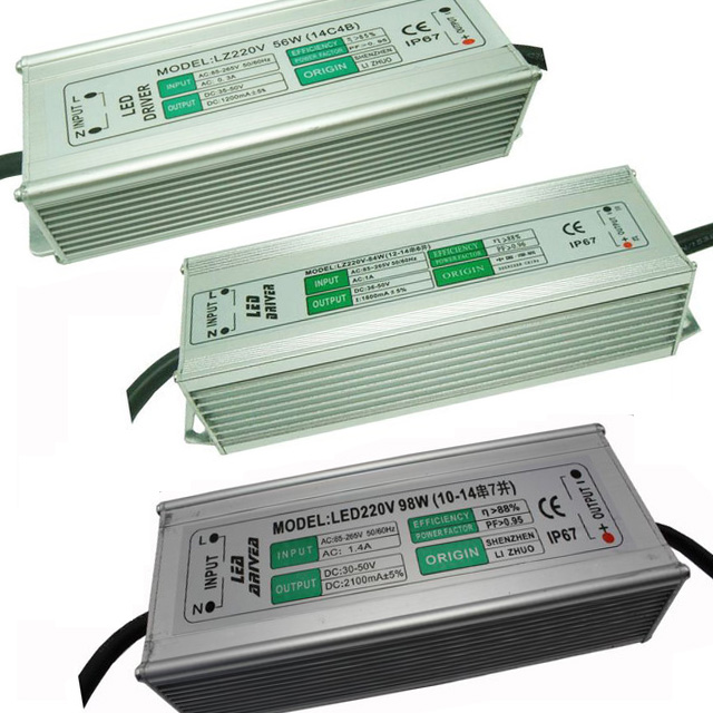 42W 56W 70W 84W 98W 112W 126W 140W 154W 168W 182W 196W LED Constant Current Driver AC85-265V Input DC38-50V Output Isolated Power Adapter