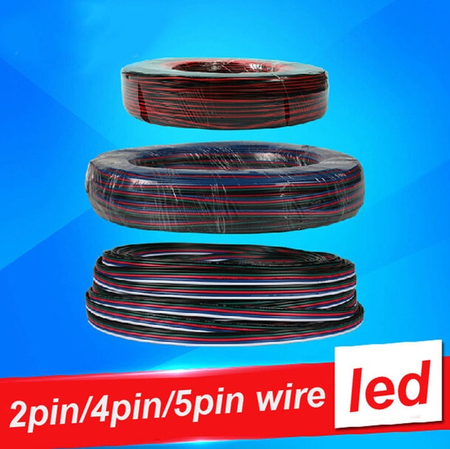 4 PIN RGB LED Wire Cable For RGB /RGBW /Single Color 5050 3528 LED Strip Light